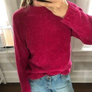 Sweaters - Vintage neon pink mock neck sweater